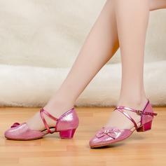 Crianças Latino Saltos Sandálias Espumante Glitter Latino