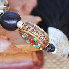 À la mode Exotique Style Classique Alliage Perles en bois Femmes Collier de mode