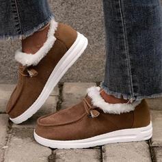 Κέντημα-επάνω Γούνα παπούτσια