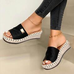Kvinder Ruskind Kile Hæl sandaler Kiler Kigge Tå Tøfler Hæle med Andre sko