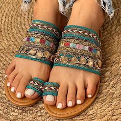 Γυναίκες Επίπεδη φτέρνα Σανδάλια Με Πούλια παπούτσια