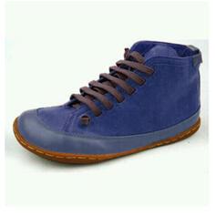 Vrouwen PU Flat Heel Enkel Laarzen Ronde neus met Vastrijgen Las kleur schoenen