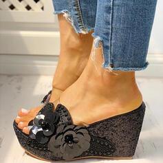 Τεχνητό διαμάντι Απομιμήσεις Pearl παπούτσια