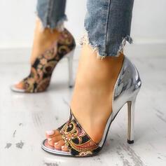 Bayanlar PU Topuklu ayakkabı Sandalet Peep Toe ayakkabı