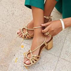 PU Χοντρό φτέρνα Σανδάλια Ανοιχτά σανδάλια toe Παπούτσια με λουρί παπούτσια