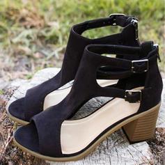 PU Tacón ancho Sandalias Salón Encaje con Otros zapatos
