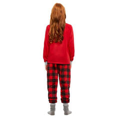 Tela escocesa Impresión Familia a juego Pijamas De Navidad