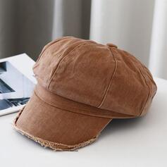 Kvinder Smukke/Smuk/Charmen/Kunstnerisk Bomuld med Hør Baret Hat