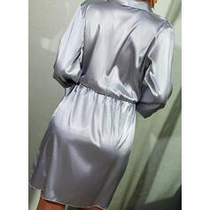 Pevný Dlouhé rukávy Pouzdrové Nad kolena Malé černé/Elegantní Zabalit Šaty