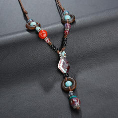 Unique Alloy With Gem Women's Necklaces