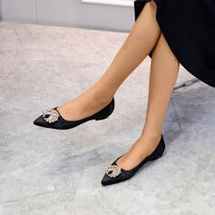 Women's Satin Flat Heel With Beading shoes