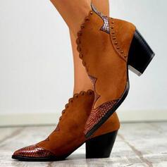 Naisten PU Chunky heel Kengät Nilkkurit jossa Niitti Solki kengät