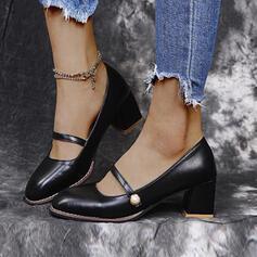 Γοβάκια Κλειστά παπούτσια Με Μαργαριτάρι Πόρπη Στερεό χρώμα παπούτσια