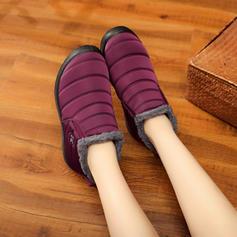 De mujer Lona Tacón plano Planos Botas con Otros zapatos