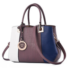 La modă/navetism/Splice Color Tote Bags/Corpuri de transmisie