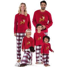 Reno Tela escocesa Impresión Familia a juego Pijamas De Navidad