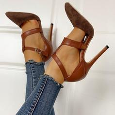 Pentru Femei PU Toc Stiletto Încălţăminte cu Toc Înalt cu Cataramă pantofi