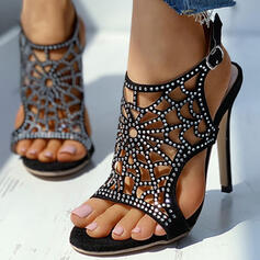 De mujer Ante Tacón stilettos Salón Encaje con Hebilla Agujereado zapatos