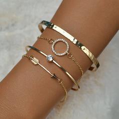 Vintage Layered Alloy Bracelets (Set of 4)