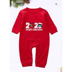 Kostkovaný Písmeno Tisk Rodinné odpovídající Vánoční pyžama