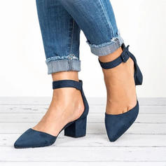 Pentru Femei PU Toc Stiletto Încălţăminte cu Toc Înalt Închis la vârf cu Cataramă pantofi