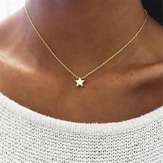 Csillag alakú Ötvözet Női nyakláncok