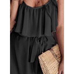 Solid Sleeveless Sheath Above Knee Little Black/Casual/Vacation Slip Dresses