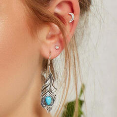Stylish Delicate Romantic Alloy With Leaf Women's Ladies' Girl's Earrings