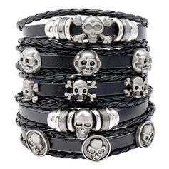 gótico Horrível Único Dia das Bruxas Esqueleto Couro Adereços de Halloween