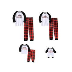 Trozos de color Tela escocesa Familia a juego Pijamas De Navidad