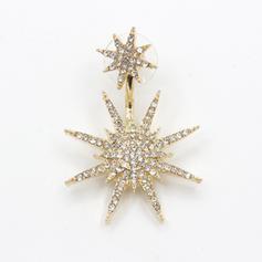 Único Luminoso Aleación Diamantes de imitación De mujer Señoras' Pendientes de la manera (Sold in a single piece)