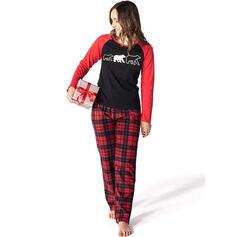 Oso Tela Escocesa Familia a juego Pijamas De Navidad
