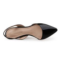 Donna Pelle verniciata Tacco a spillo Stiletto con Con risvolto scarpe