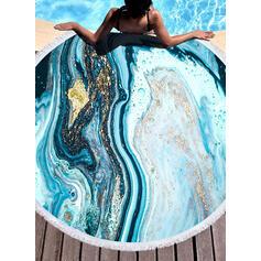 Frędzle/Bohemia/Kolor gradientu/Kolorowy lekkie/prosty/Boho/Wielofunkcyjny/Bez piasku/Szybkie schnięcie ręcznik plażowy