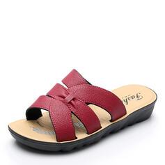 Γυναίκες PU Επίπεδη φτέρνα Σανδάλια Ανοιχτά σανδάλια toe Παντούφλες παπούτσια