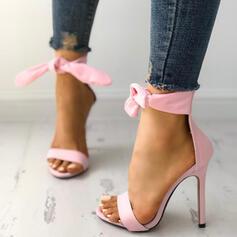 Kvinnor Mocka Stilettklack Sandaler Peep Toe skor