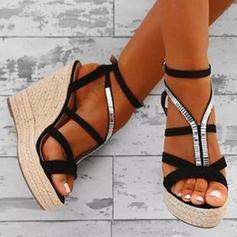 PU Tipo de tacón Sandalias Plataforma Cuñas Encaje Tacones con Otros zapatos