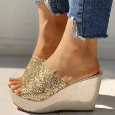 Pentru Femei PU Platforme Înalte Sandale Platforme cu Paietă Sclipici Sclipitor pantofi