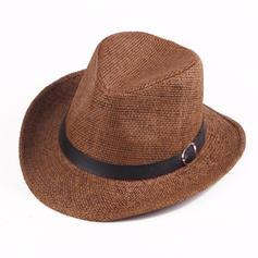 Hommes Style Classique Paille salée Chapeau de cowboy/Kentucky Derby Des Chapeaux