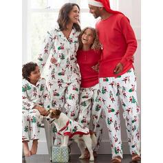 Santa Claus Soby Tisk Rodinné odpovídající Vánoční pyžama