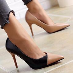 De mujer PU Tacón stilettos Salón con Color de empalme Bloque de color zapatos