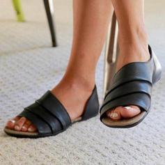 Pentru Femei Satin călcâi plat Sandale Balerini Puţin decupat în faţă cu Altele pantofi