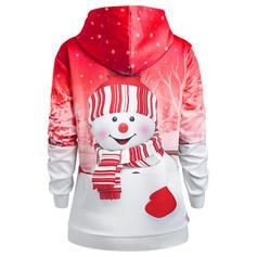 Impressão Natal Manga comprida Camisola de Natal