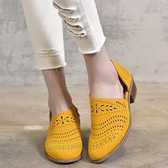 De mujer PU Tacón bajo Sandalias zapatos