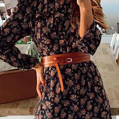 Elegante Aleación cuero De mujer Cinturones