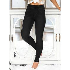Solido Taglia grossa Strappata Sexy Vintage Ghette Denim & Jeans
