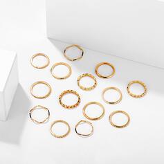 Κομψός Κράμα Σετ Κοσμήματα Δαχτυλίδια