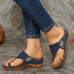 Női PU Ékelt sarkú Szandál Papucs cipő