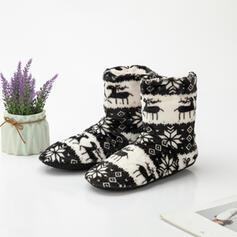 PU Плоский каблук Зимние сапоги Зимние ботинки с Рисунок животного вышивка обувь