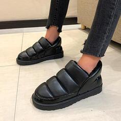 Femmes Tissu Talon plat Chaussures plates Tennis avec Couleur unie chaussures